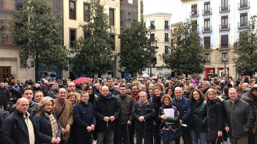 PP se suma en la capital a una concentración a favor de la prisión permanente revisable y defiende la medida