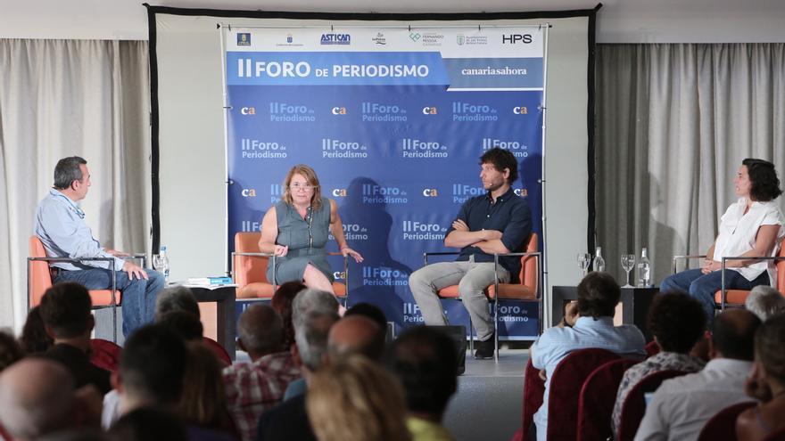 Ponencia sobre Periodismo y Cambio Climático en el II Foro de Canarias Ahora. (ALEJANDRO RAMOS)
