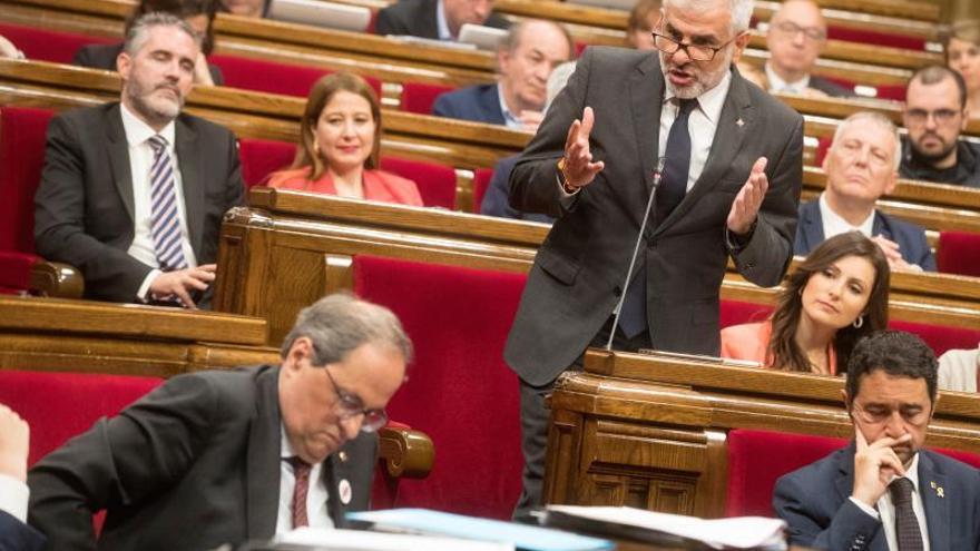 """Ciudadanos pide a Torra que convoque elecciones porque ya ha """"tocado fondo"""""""