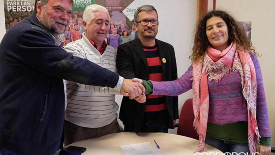 Acuerdo de Europa Laica y Ganemos, en una imagen de archivo   TONI BLANCO