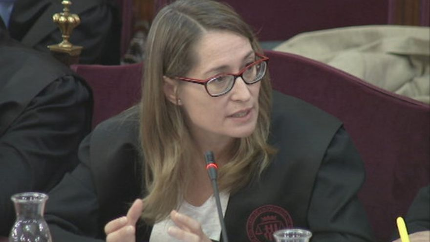 La abogada Marina Roig, durante el juicio