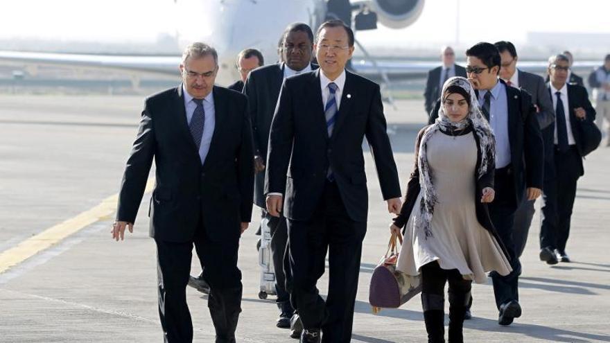Ban Ki-moon llega a Bagdad para tratar la crisis iraquí y el conflicto sirio