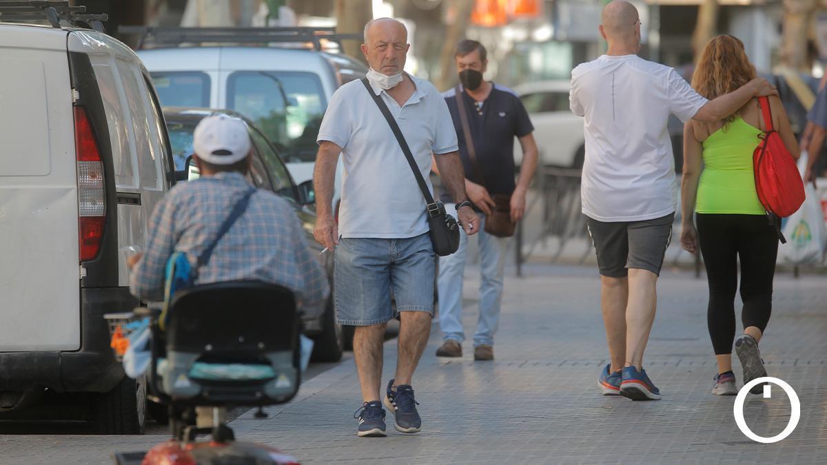 Un grupo de cordobeses en la calle