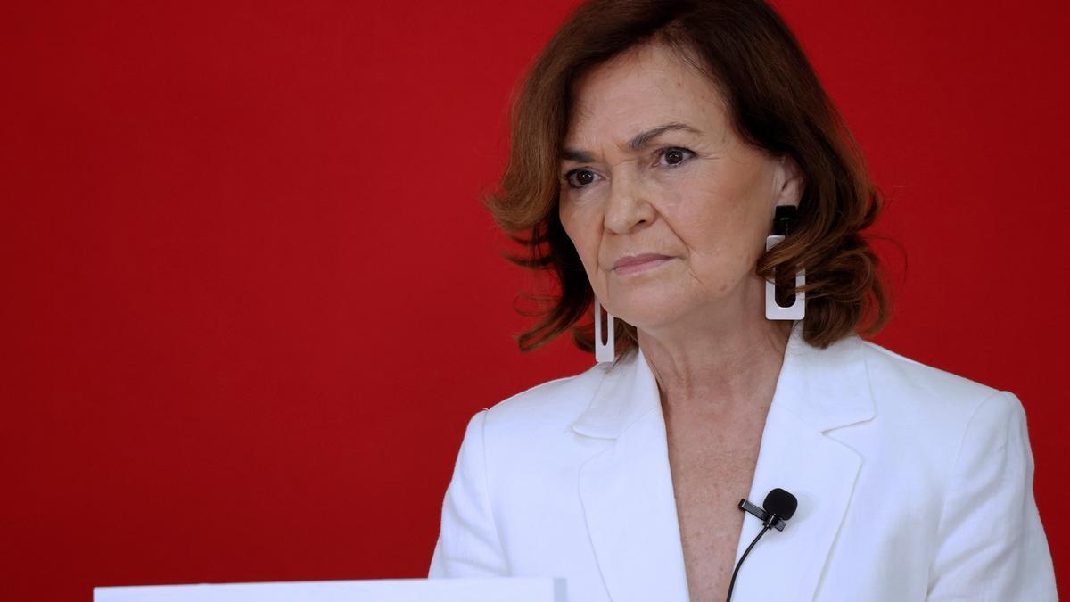 La secretaria de Igualdad del PSOE, Carmen Calvo. EFE/Zipi/Archivo