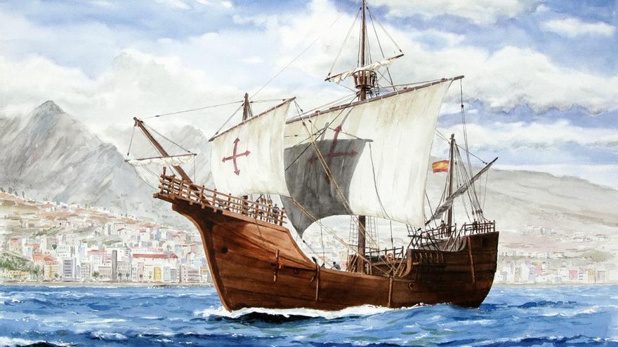 Acuarela de Francisco Noguerol cedida al Museo Naval.