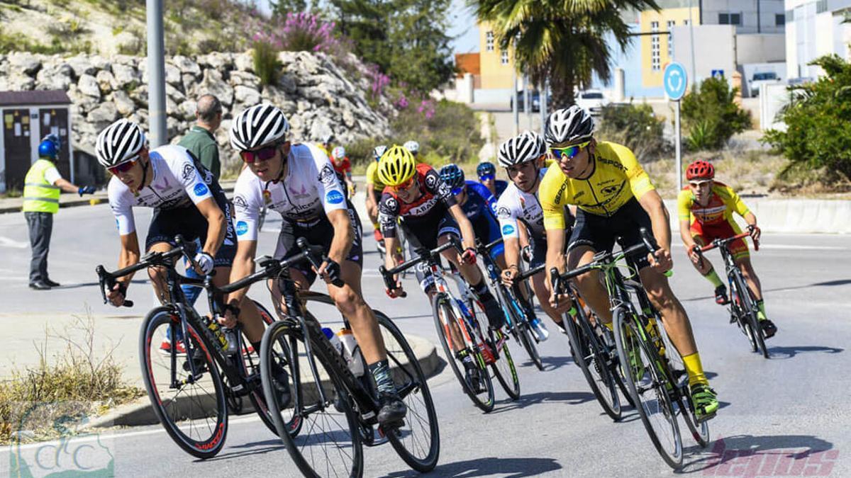 Ciclistas, en una prueba