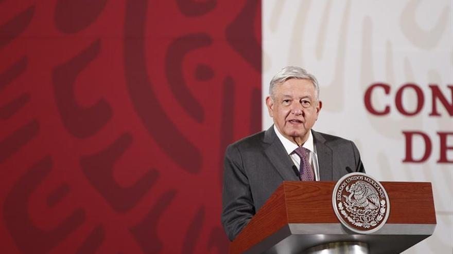 El presidente de México, Andrés Manuel López Obrador, participa durante una rueda de prensa matutina en Palacio Nacional de Ciudad de México (México).