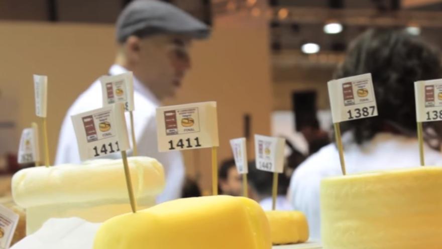 Captura del vídeo del concurso GourmetQuesos