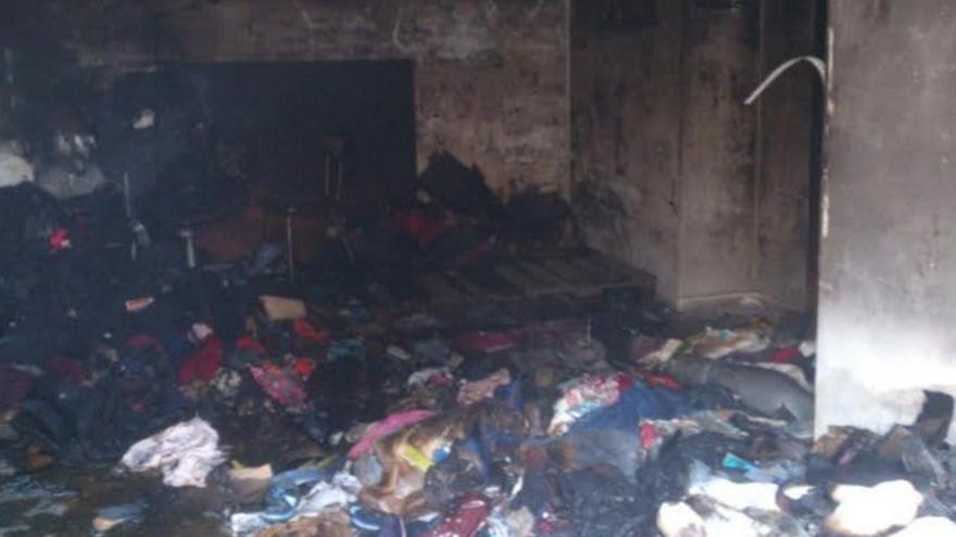 Estado en el que ha quedado la ayuda humanitaria tras el incendio