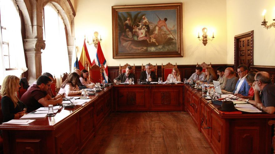 Imagen de luna sesión plenaria del Ayuntamiento de la capital.