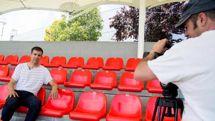 El exfutbolista Roberto Solozábal durante la grabación | OBJETIVO FAMILY