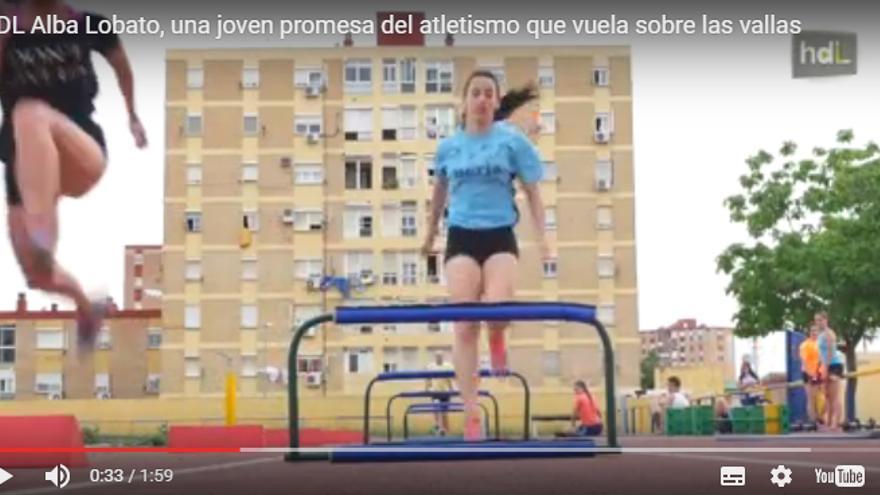 Ana Lobato, la campeona de España júnior en 2017 en la prueba de 60 metros vallas