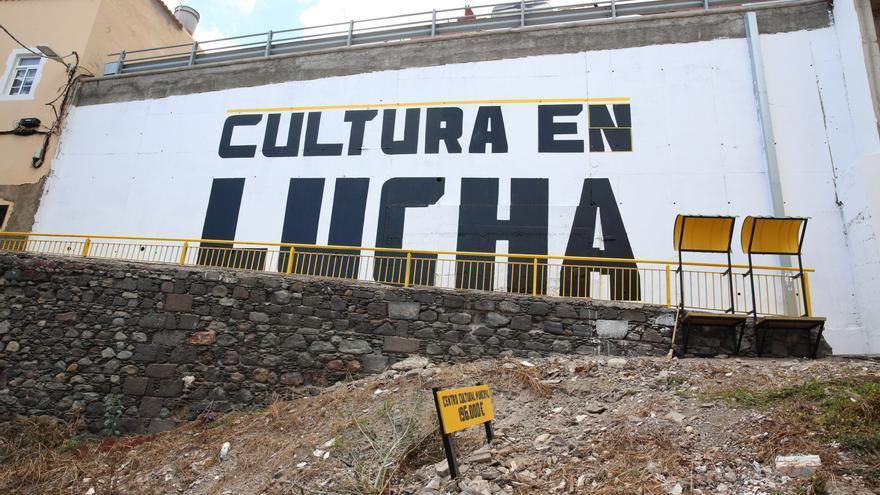 Mural en el Risco de San Nicolás tras el encuentro de Arquitecturas Colectivas