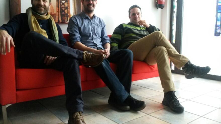 Tres de los impulsores de la plataforma Kolokvo.