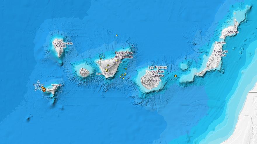 Movimientos sísmicos detectados en Canarias por el IGN