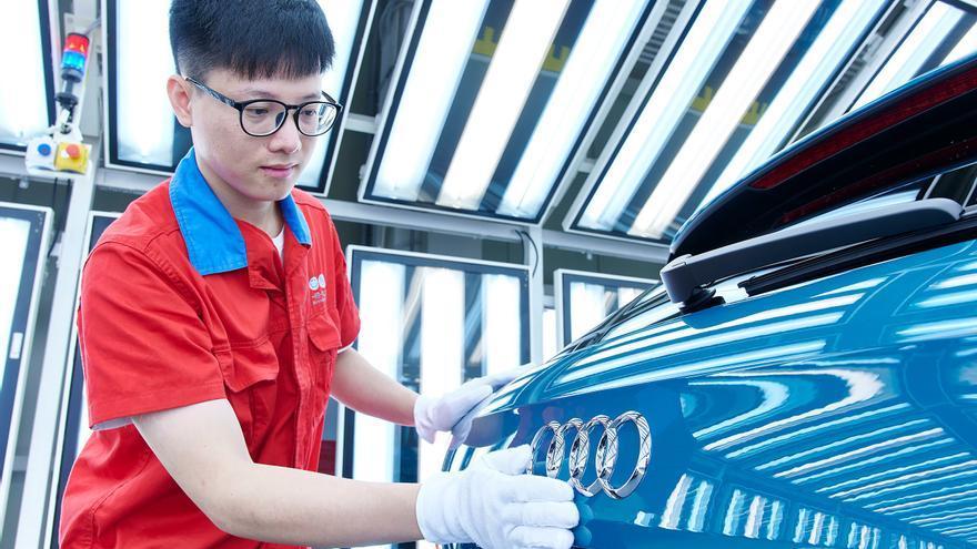 Producción de coches Audi en China.