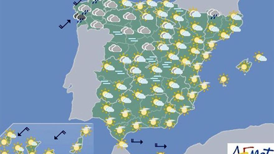 Hoy, muy nuboso en el noroeste y aumento generalizado de las temperaturas