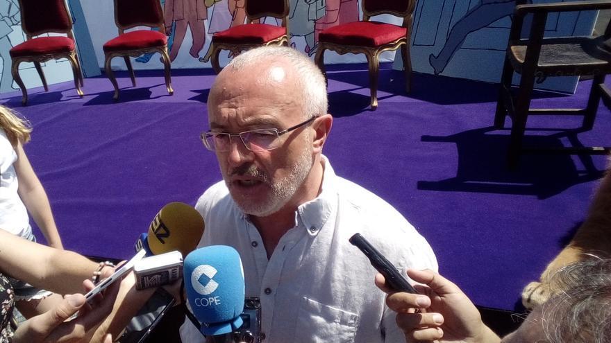Antonio Montiel, este domingo antes de participar en un acto junto a Errejón