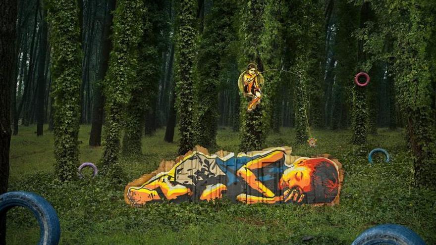 Artistas argentinos intervienen los paisajes naturales de su país