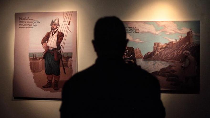 Una exposición gráfica fusiona en Lisboa la vida y el teatro de Cervantes