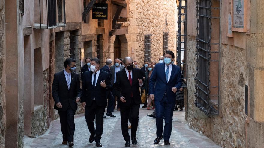 Lambán, Page y Mañueco exigen al Gobierno una cumbre a 8 sobre la despoblación
