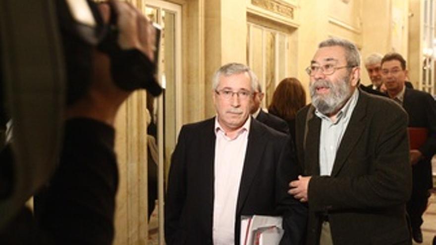 Secretarios Generales De UGT Y CCOO, Cándido Méndez E Ignacio Fernández Toxo
