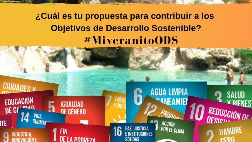 Cartel de la campaña #MiVeranitoODS