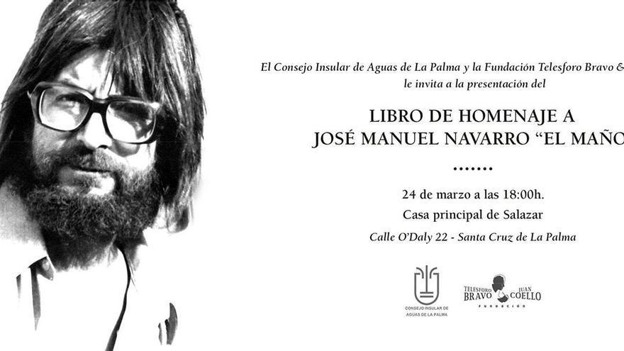 Invitación al acto de presentación del libro.