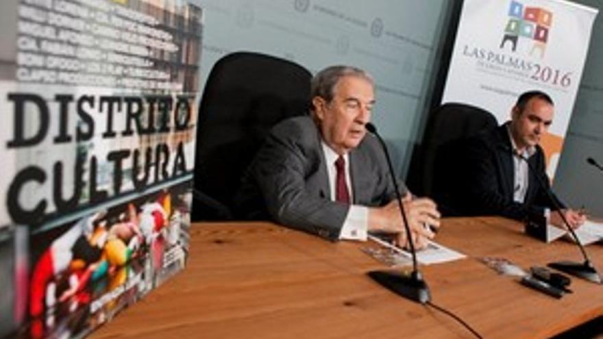 Jerónimo Saavedra y Rafael López, durante la presentación de la nueva temporada de 'Distrito Cultura'. (ACN PRESS)