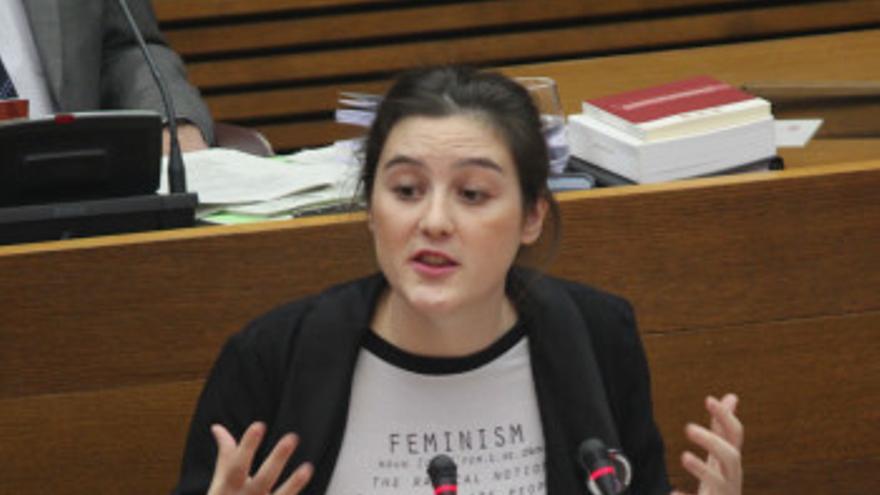 La diputada autonómica de Podemos Cristina Cabedo