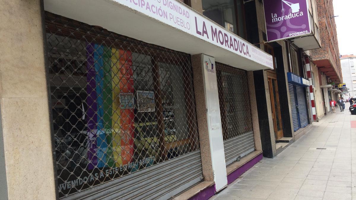 La sede de Podemos en Cantabria.