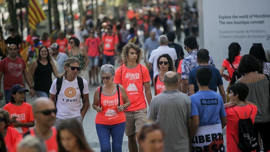 Barcelona se llena de esteladas para la manifestación de la Diada
