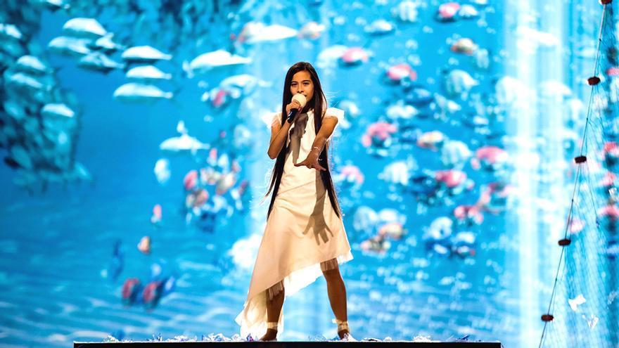 """Melani brilla """"bajo el mar"""" en su primer ensayo de Eurovisión Junior"""