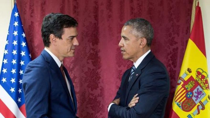 Pedro Sánchez y Barack Obama, el 10 de junio en Madrid.
