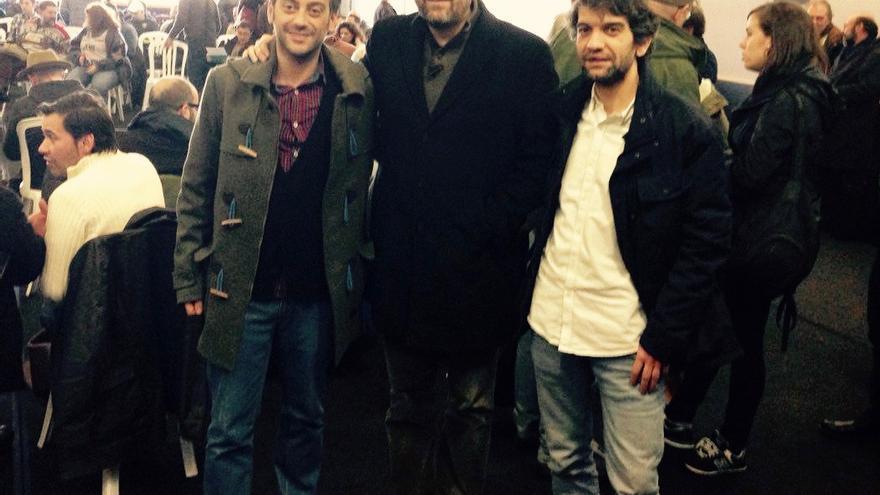 Ferreiro, Noriega y Suárez, durante el encuentro en A Estrada