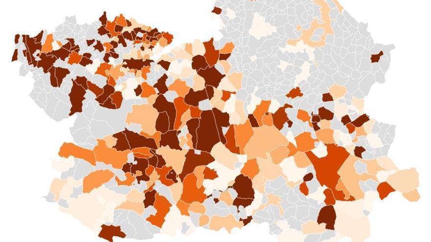 MAPA | Los casos de COVID-19 durante dos semanas en cada municipio de Castilla-La Mancha