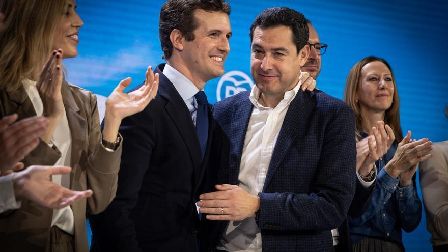 Casado y Moreno, durante la Convención Nacional del PP.