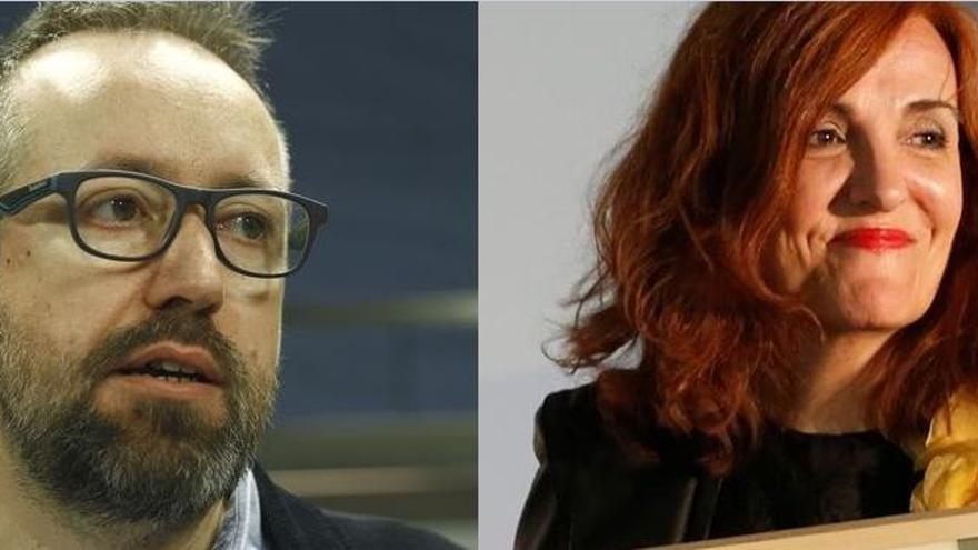 Juan Carlos Girauta y Elvira Lindo.