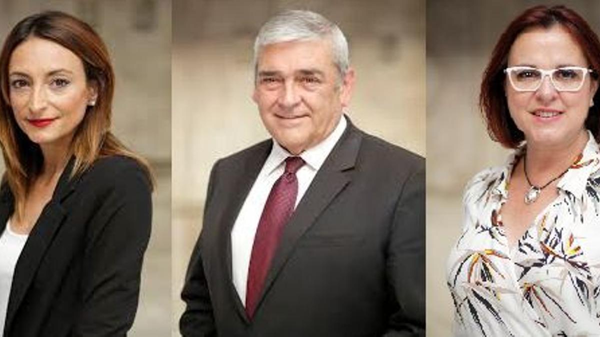Valle Miguélez, Francisco Álvarez e Isabel Franco, diputados de Ciudadanos en Murcia