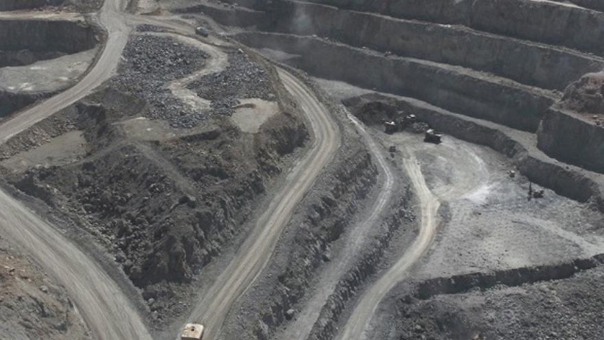 La corta principal de la mina onubense.
