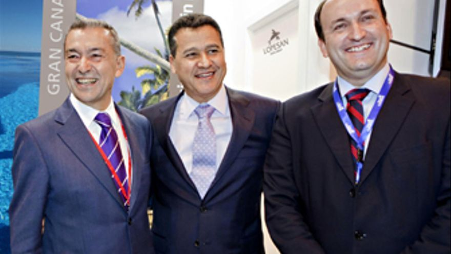 Paulino Rivero, Eustasio López y Ricardo Fernández.