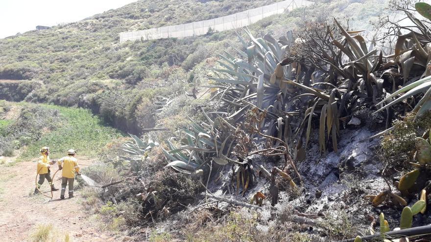 Imagen del conato en Puntallana.