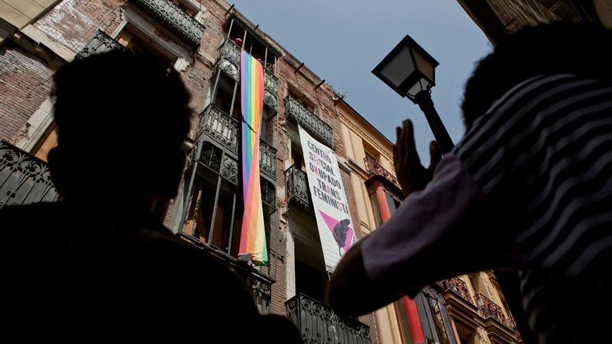 El Centro Social Okupado Transfeminista La Pluma, en el barrio de Chueca