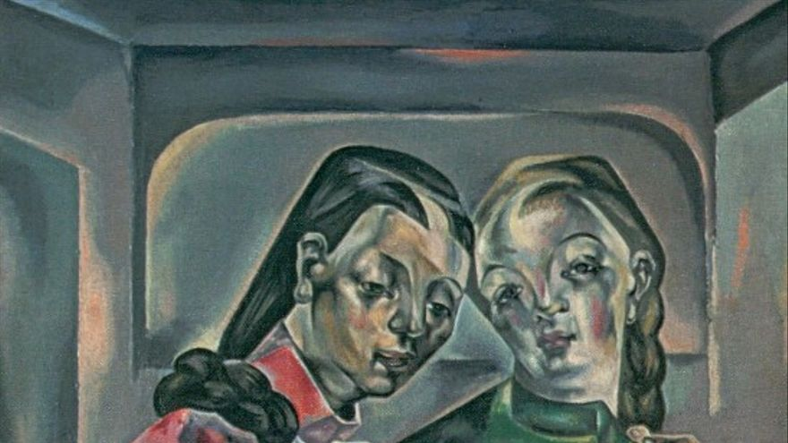 Pintura titulada 'Dos hermanas' de María Blanchard.