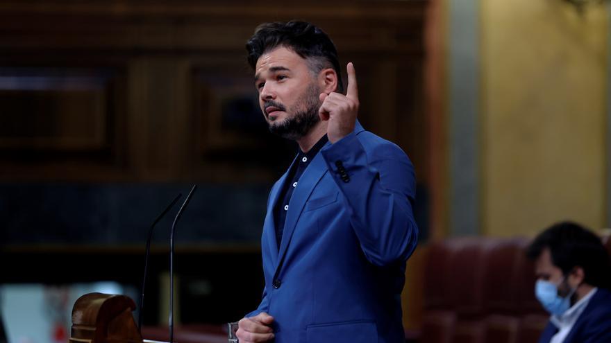 """Rufián ante el """"no"""" de Sánchez al referéndum: Negó los indultos, denos tiempo"""