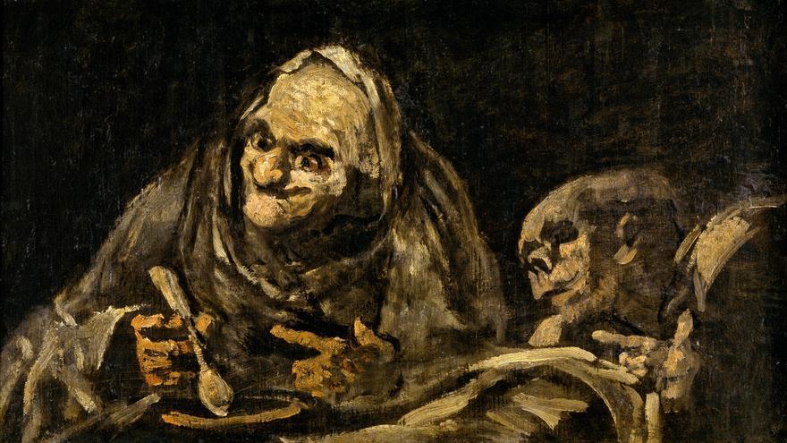 """""""Dos viejos comiendo sopa"""". Francisco de Goya."""