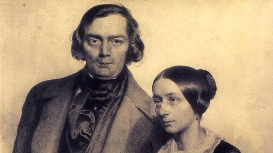 Robert y Clara Schumann, en 1847