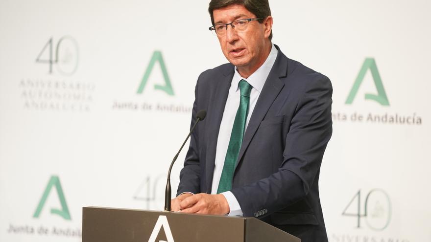 El vicepresidente de la Junta de Andalucía y consejero de Justicia y Regeneración, Turismo y Administración Local, Juan Marín , en una foto de archivo.