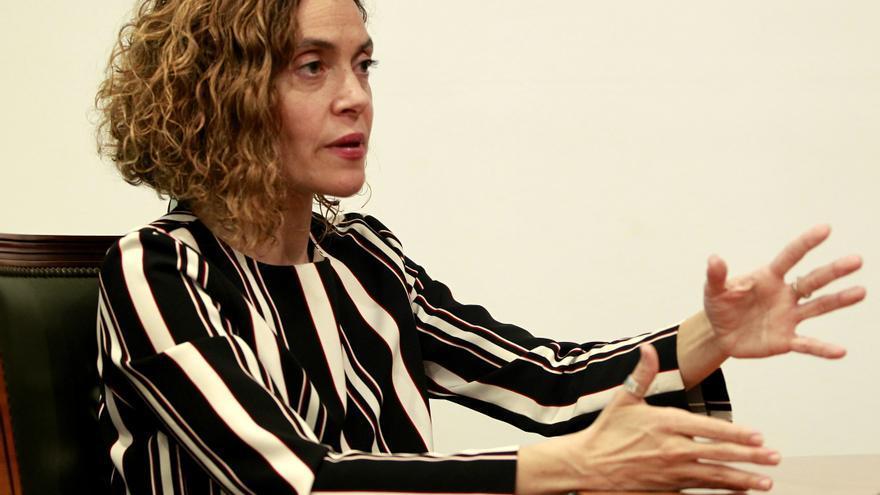 Meritxell Batet, durante una entrevista para eldiario.es // Marta Jara