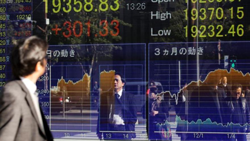 La Bolsa de Tokio abre con una caída del 0,55 % hasta los 19.240,62 puntos